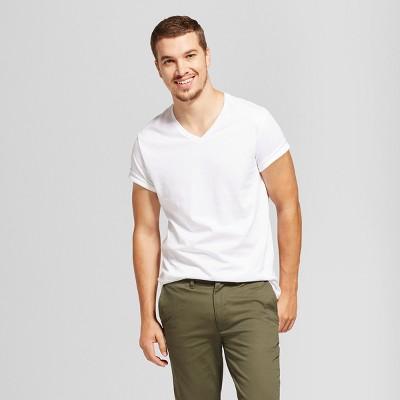 88cfb86545a Men s Standard Fit Short Sleeve V-Neck T-Shirt - Goodfellow ...