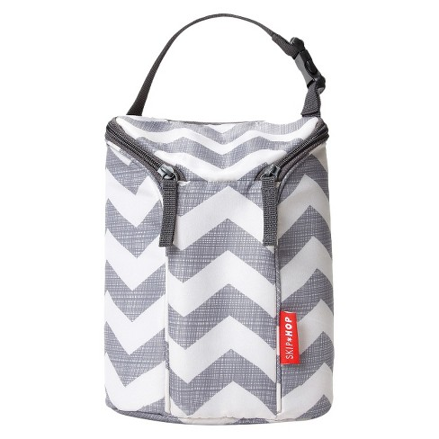 Skip Hop Grab and Go Double Bottle Bag - Chevron - image 1 of 4