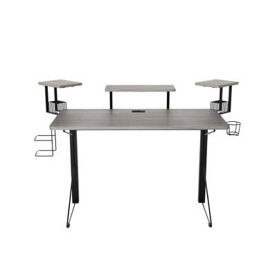 Carnegie Computer Gaming Desk Black/Gray - Jamesdar : Target