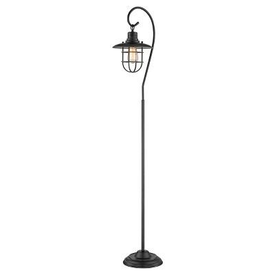 Lanterna II 1 Light Floor Lamp (Includes Light Bulb) Dark Bronze - Lite Source