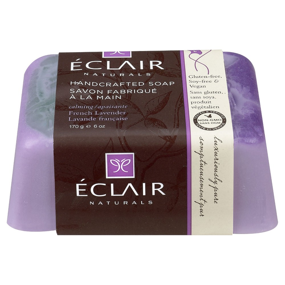 Eclair Naturals Handcrafted French Lavender Bar Soap - 6oz