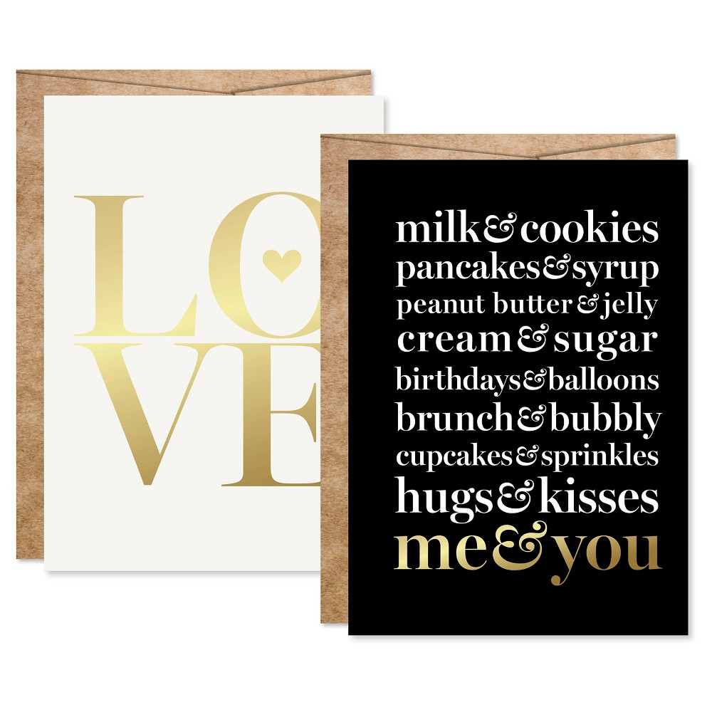 "Image of ""2ct """"Me&You"""" Foil Art Cards Gold"""