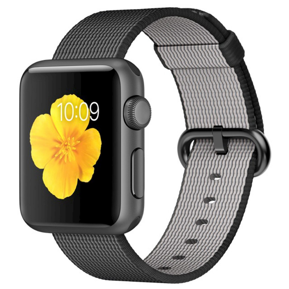 Apple Watch 1st Generation 42mm Space Gray Aluminum Case with Black Woven Nylon Band