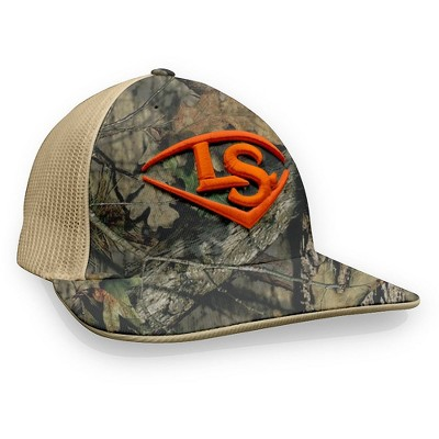 8a8f0250ca421 Louisville Slugger Mossy Oak LS Logo Baseball Softball Trucker Hat -  Camo Orange - L XL   Target