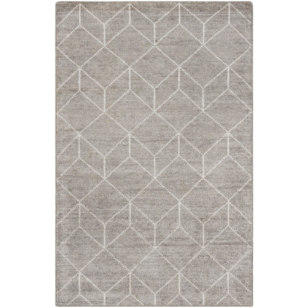 5'X8' Knotted Geometric Area Rug Silver - Safavieh