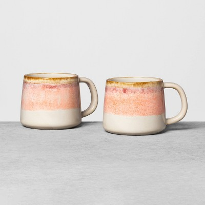 2pk Ombre Mug Set Pink - Hearth & Hand™ with Magnolia