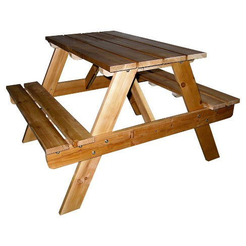 Kids Indoor - Outdoor Picnic Table - Brown - Ore International - image 1 of 1