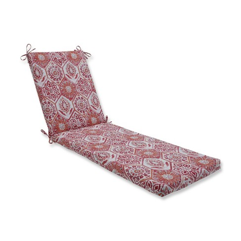 Indoor/Outdoor Summer Breeze Grenadine Orange Chaise Lounge Cushion - Pillow Perfect - image 1 of 1