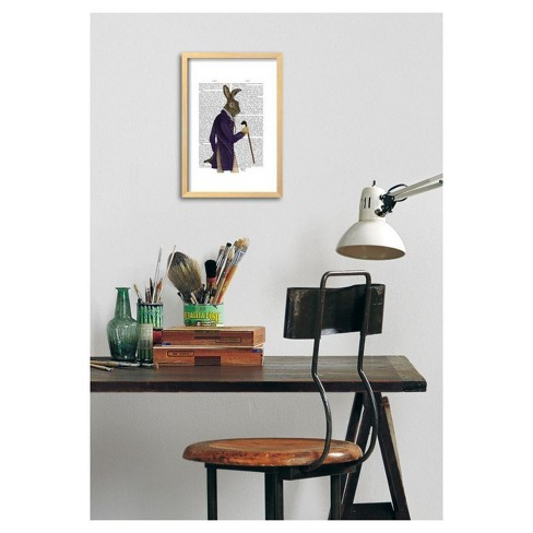 Hare In Purple Coat By Fab Funky Framed Poster 13\