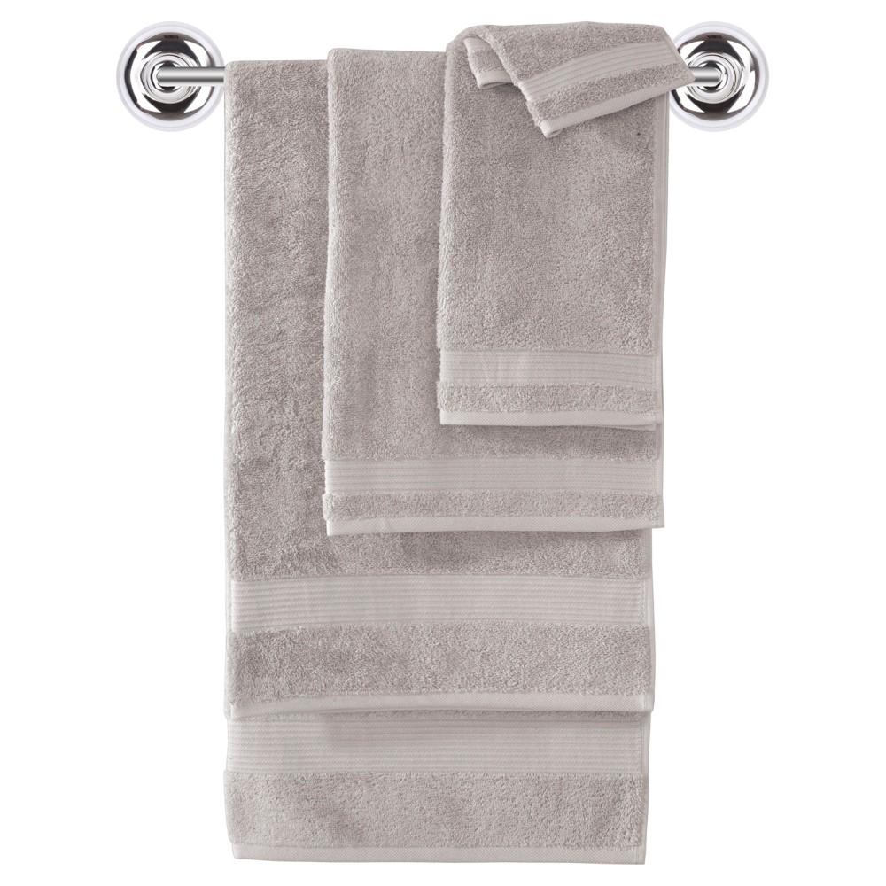 Image of 6pc Amadeus Turkish Bath Towel Set Vanilla - Makroteks, White