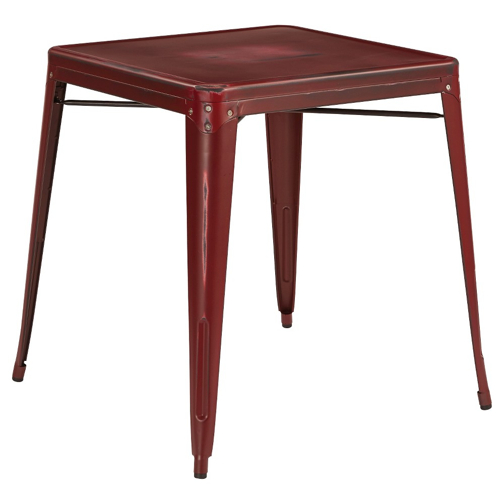 Bristow Antique Metal Table Red - Osp Home Furnishings
