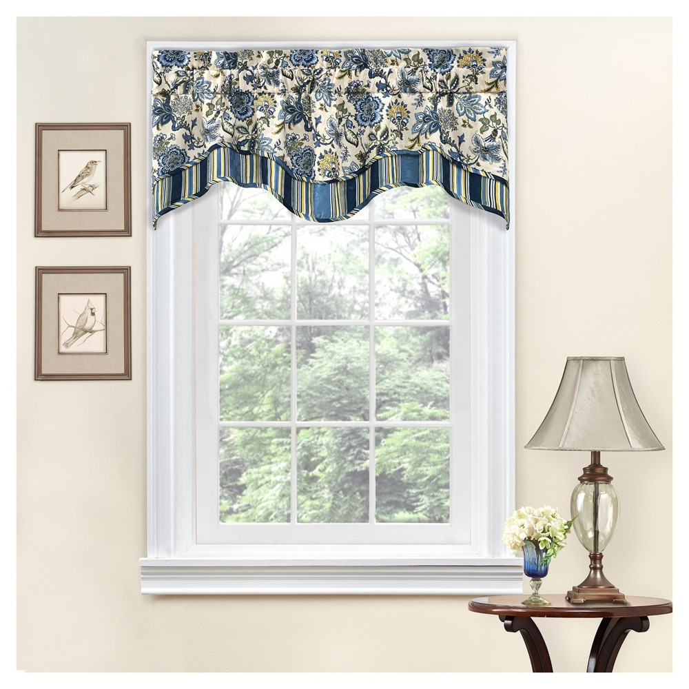 Floral Window Valance Blue (16
