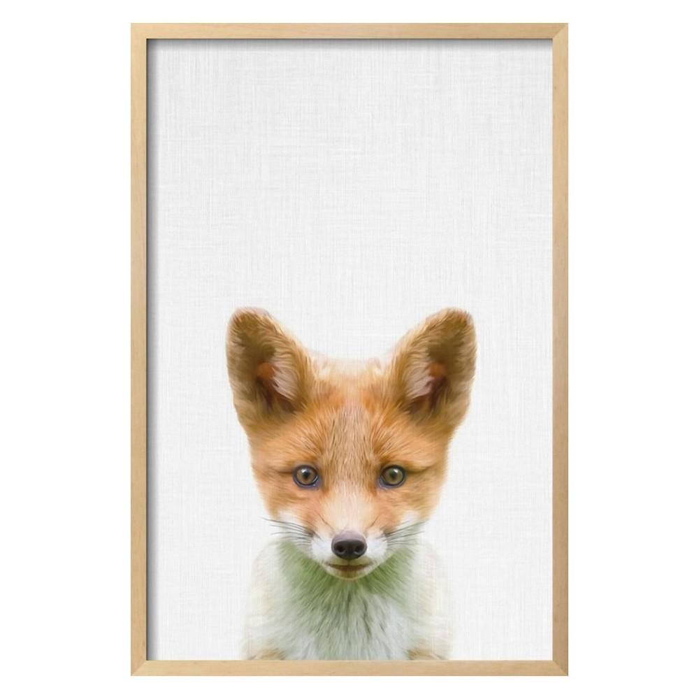 Baby Fox By Tai Prints Framed Wall Art Poster Print 21