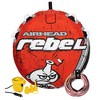 Airhead Rebel 54In 1 Person Red Towable Tube Kit w/ Rope and 12V Pump (2 Pack) - image 2 of 4