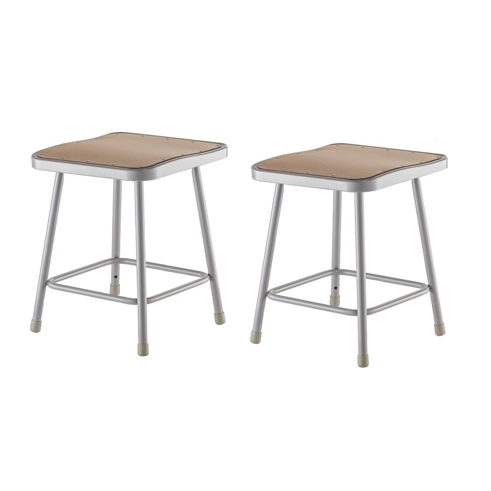 "Image of ""2pk 18"""" Heavy Duty Square Steel Stool Gray - Hampton Collection"""