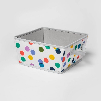 Small Canvas Bin with Dots White - Pillowfort™
