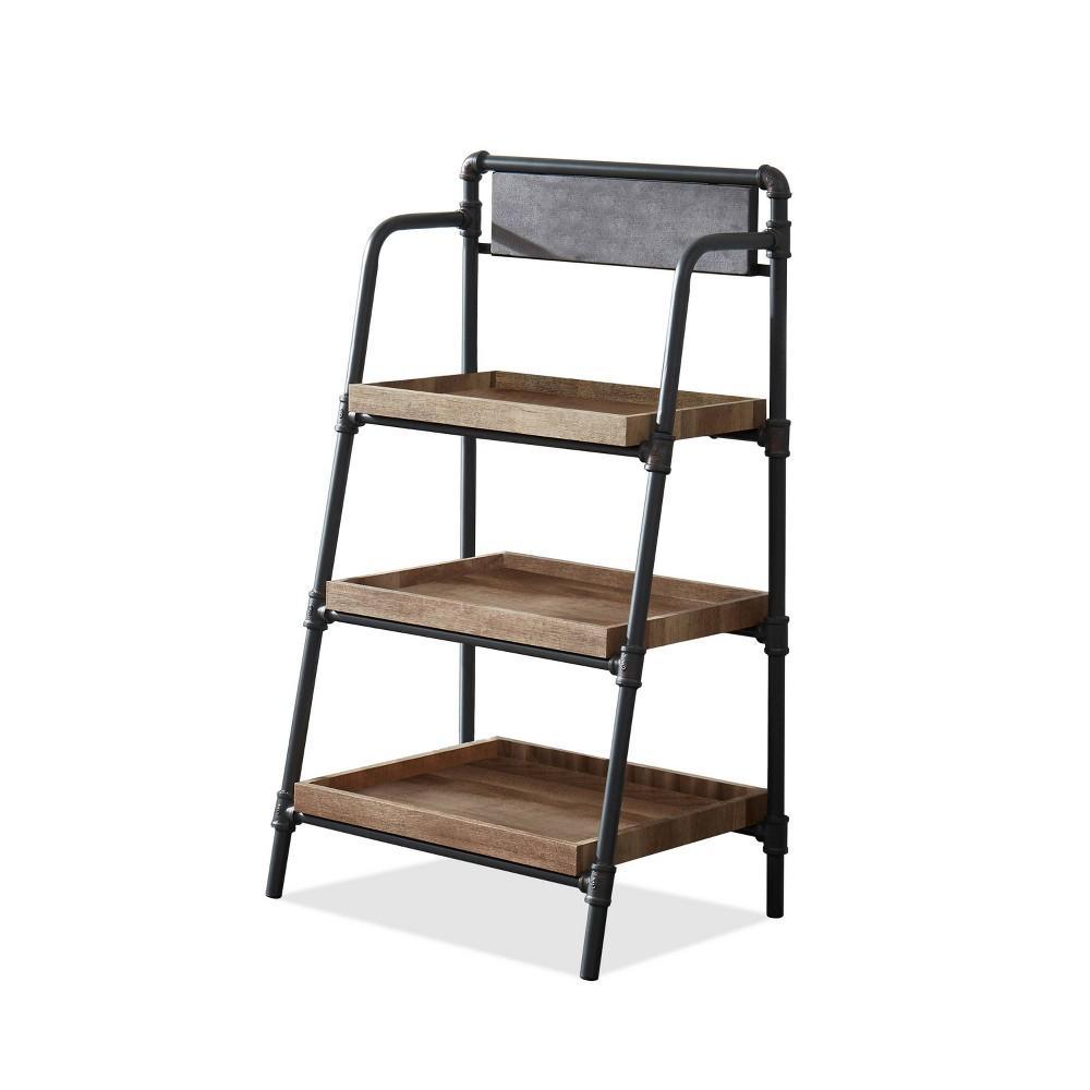"Reviews 48"" Mack 3 Shelf Rustic Bookcase Light Copper - HOMES: Inside + Out"