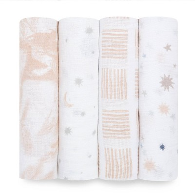 Aden + Anais Essentials Muslin Swaddles To The Moon - 4pk