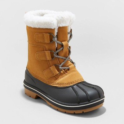 Kids' Kit Lace-Up Winter Boots - Cat & Jack™