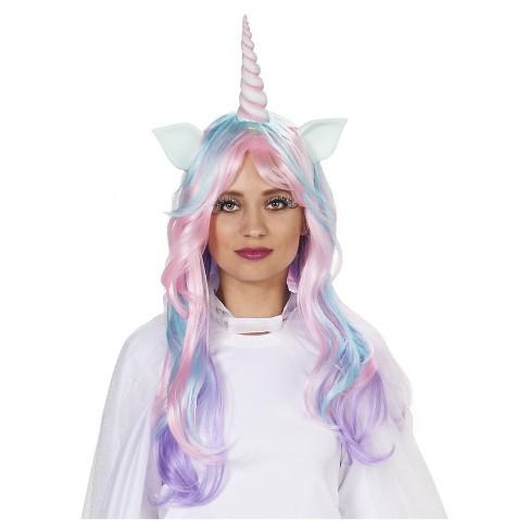 Soft-Hued Unicorn Women s Costume Wig   Target 0896b11c5