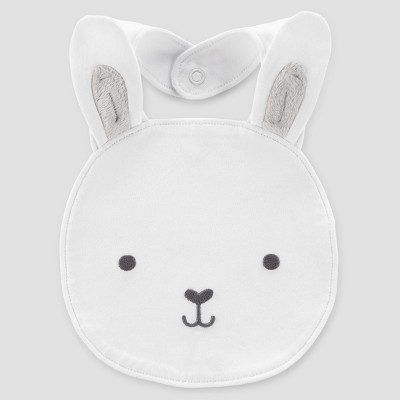 Babys' Bunny Face Bib - Just One You® made by carter's White One Size