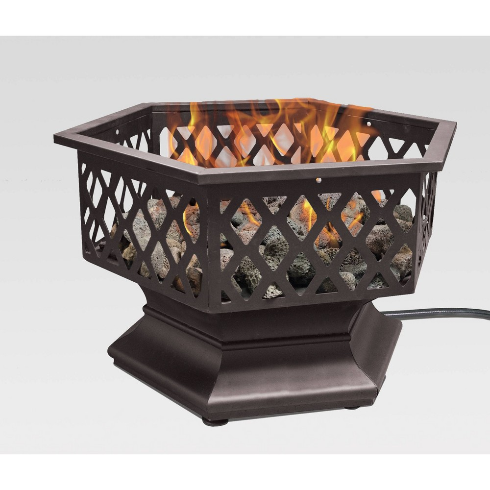 Image of Outdoor Patio Hexagon Portable Gas Fire Pit Bronze - Endless Summer