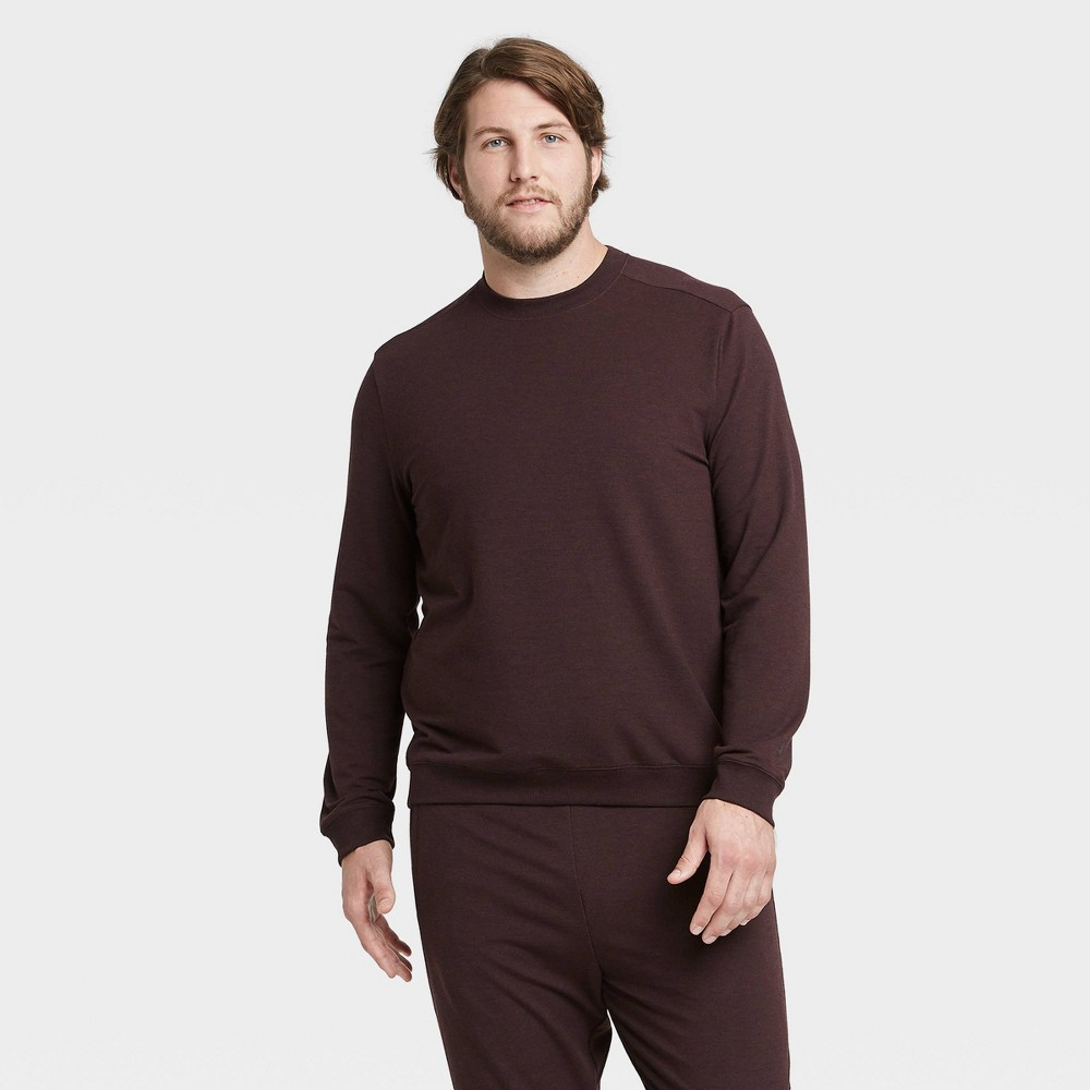 Men's Soft Gym Crew Sweatshirt - All in Motion Maroon XL, Men's, Red was $28.0 now $14.0 (50.0% off)
