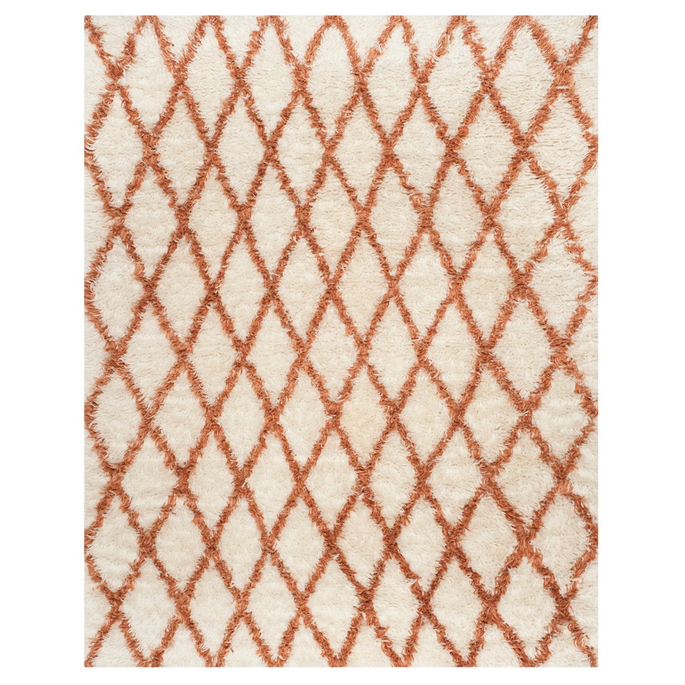 Ivory/Terracotta Abstract Loomed Area Rug - (8'X10') - Safavieh