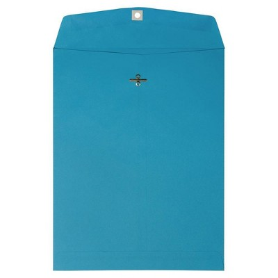 JAM Paper 50pk 10 x 13 Open End Catalog Envelopes with Clasp Closure - Blue Recycled