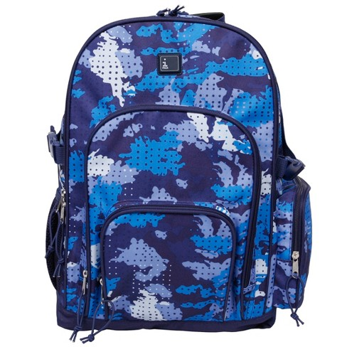 "iPack 17.5"" Camo Print Backpack - Blue - image 1 of 8"
