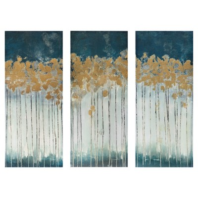 Midnight Forest Gel Coat Canvas with Gold Foil Embellishment 3 Piece Set