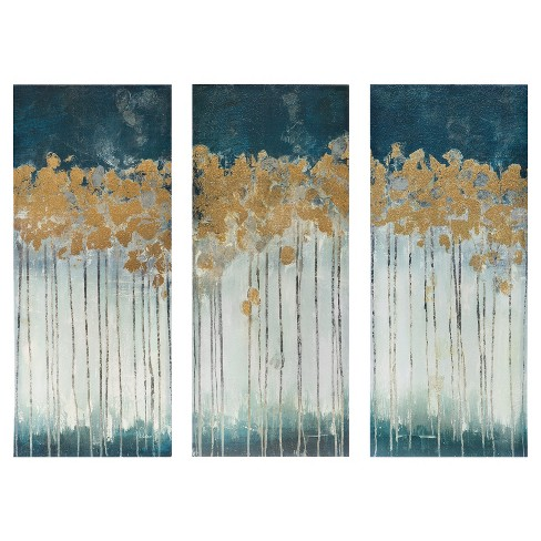 Midnight Forest Gel Coat Canvas with Gold Foil Embellishment 3 Piece Set - image 1 of 11