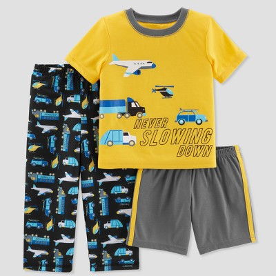 Baby Boys' 3pc Transportation Slowing Down Pajama Set - Just One You® made by carter's Yellow 12M