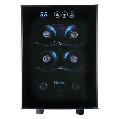 Haier 6 Bottle Ultra Quiet Wine Cellar Black Electronic Controls Hvtec06abs Target