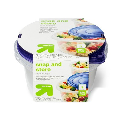 Snap and Store Medium Round Bowl Food Storage Container - 3ct/48 fl oz - up & up™