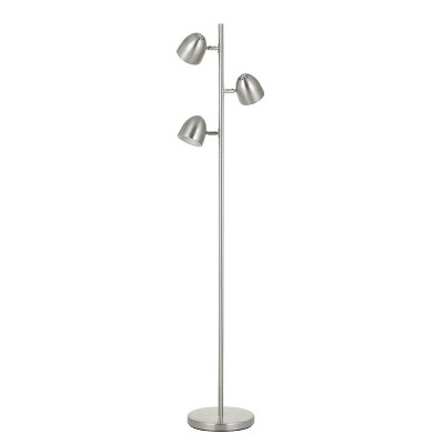 """59"""" Tree Floor Lamp with Touch Sensor Dimmer Control (Includes LED Light Bulb) Brushed Steel - Cal Lighting"""