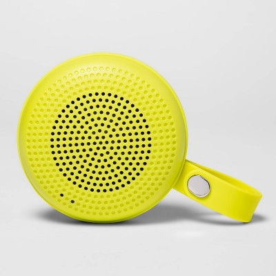 heyday™ Round Portable Bluetooth Speaker with Loop - Lime Green