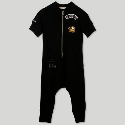 ef94c9af0a2 Afton Street Toddler Girls  Short Sleeve Jumpsuit - Black   Target