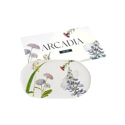 "14"" x 7"" Porcelain Arcadia Oval Tray - Rosanna"