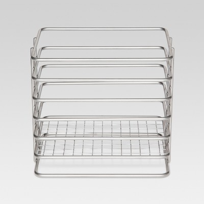 Utensil Holder Steel Wire Powder Coated Nickel Finish - Threshold™