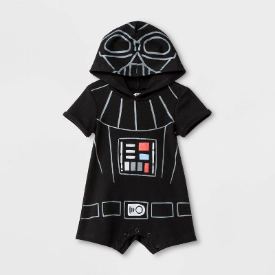 Baby Boys' Star Wars Darth Vader Dress Up Bodysuit - Black 3-6M