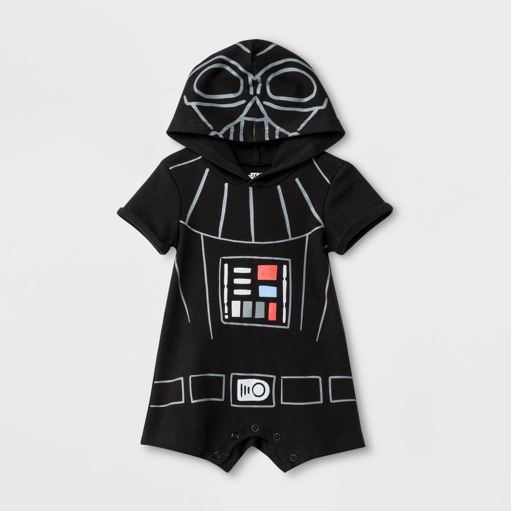 Image of Baby Boys' Star Wars Darth Vader Dress Up Bodysuit - Black 12M, Boy's