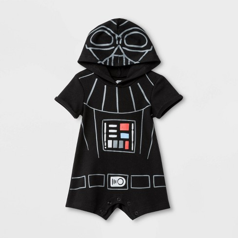 Baby Boys' Star Wars Darth Vader Dress Up Bodysuit - Black - image 1 of 1