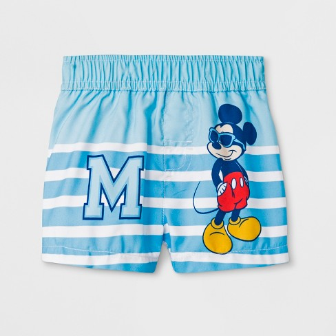 af249fb551 Baby Boys' Mickey Mouse & Friends Swim Trunks - Blue : Target