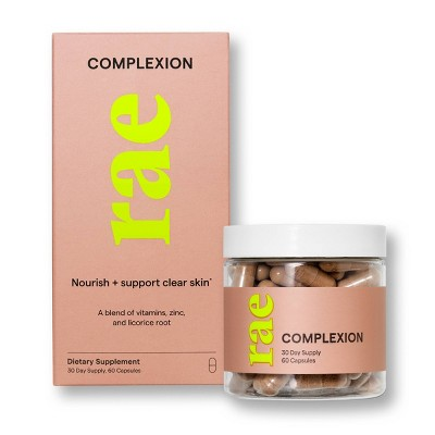 Rae Complexion Dietary Supplement Capsules for Healthy Clear Skin - 60ct