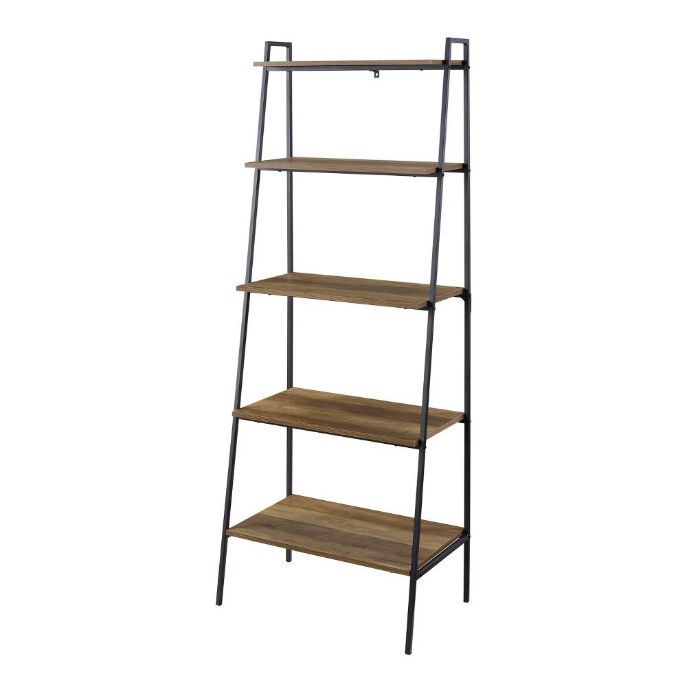 72 Modern Ladder Bookcase Reclaimed Barnwood - Saracina Home