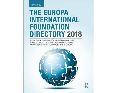 Europa International Foundation Directory 2018 -  (Hardcover) - image 1 of 1