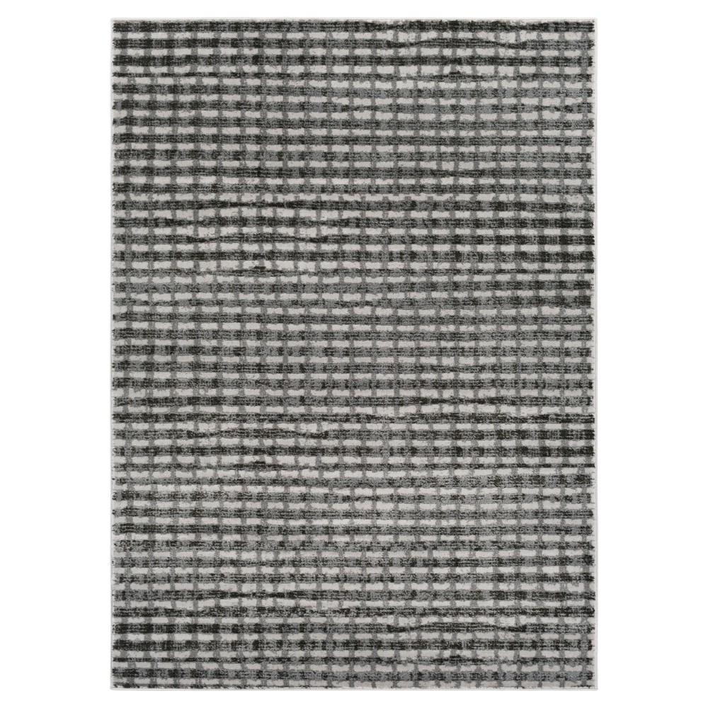 Gray Shadow Abstract Tufted Area Rug - (5'3