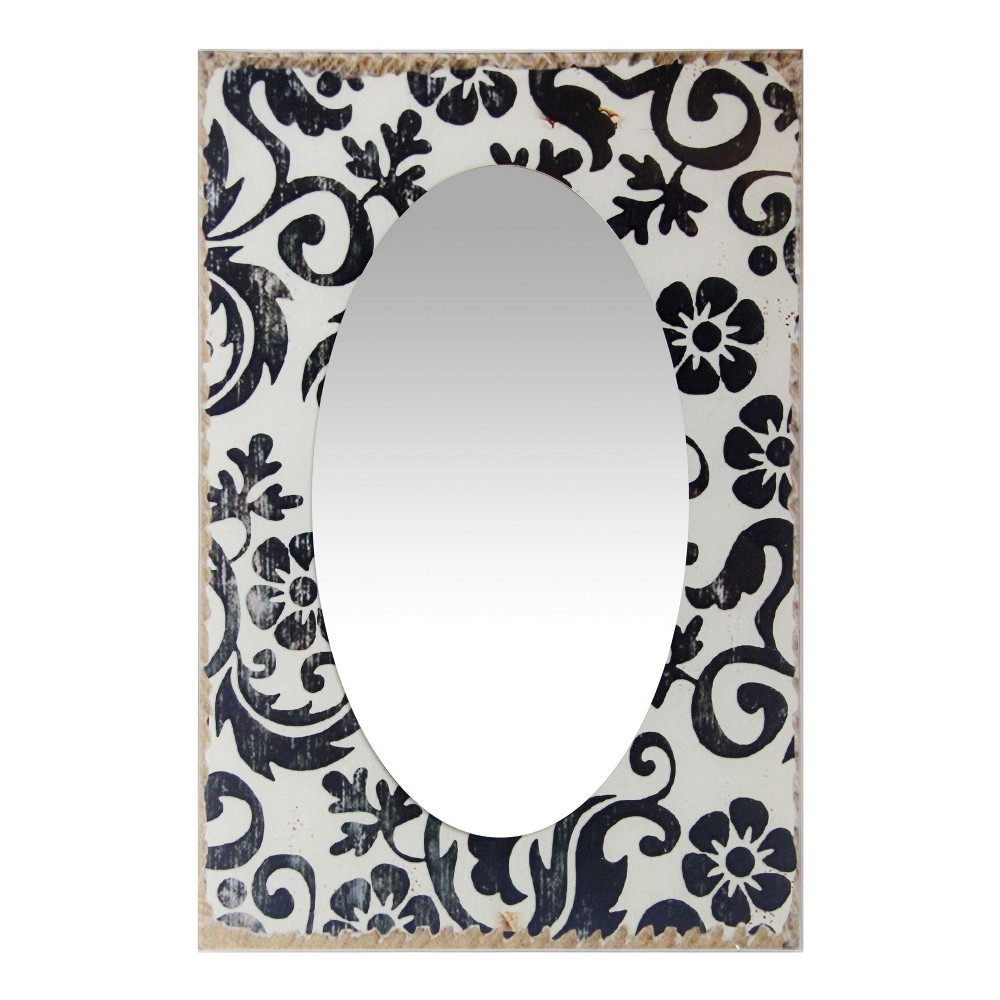 "Image of ""French Country Floral 23.5"""" X 15.75"""" Wall Mirror White - Infinity Instruments"""