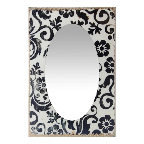 "French Country Floral 23.5"" X 15.75"" Wall Mirror White - Infinity Instruments - image 1 of 3"